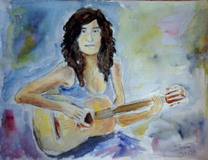 Curly Guitarist