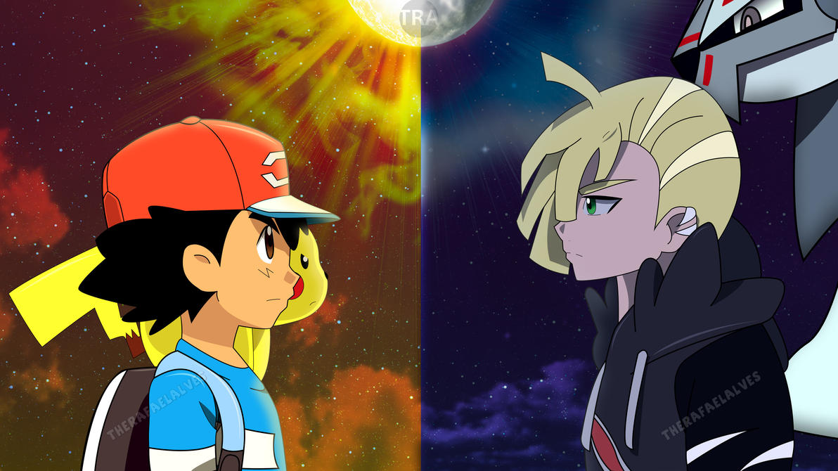 Ash vs Gladion (1st Rival Battle) by WillDynamo55 on