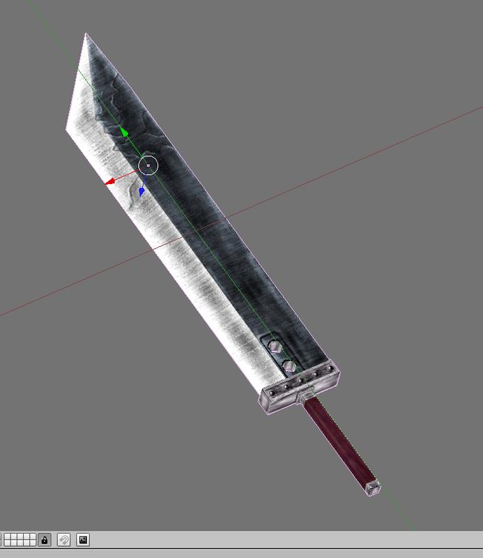 Buster Sword original art concept texture (low) by kela51 ...