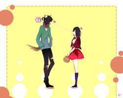Hey wolf...look at me! [JiroxMey] -By Shiru- by shiru-yuuki
