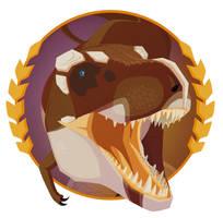 Tyrannosaurus rex sticker design
