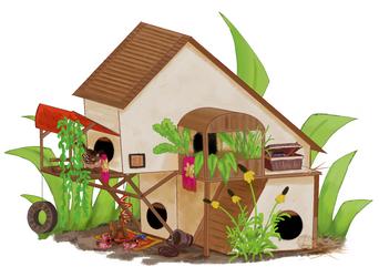 Sparrow grassland birdhouse concept