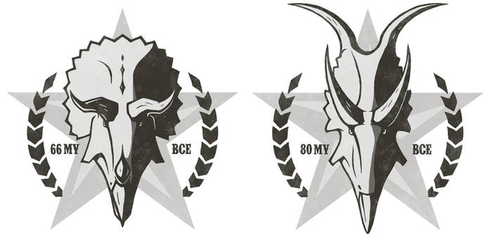 Rodeo Ceratopsian stickers
