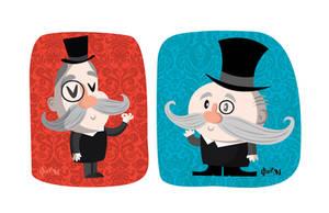 Gentleman - character design by ivan-bliznak