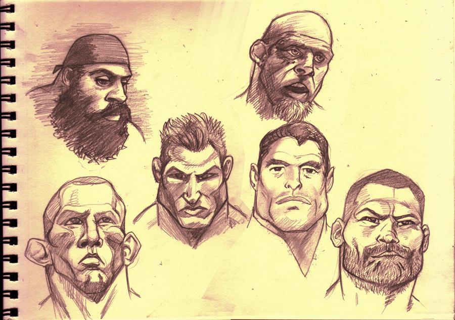 MMA headshots by Scadilla