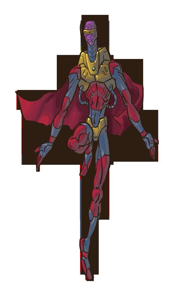 Alien superhero by Scadilla