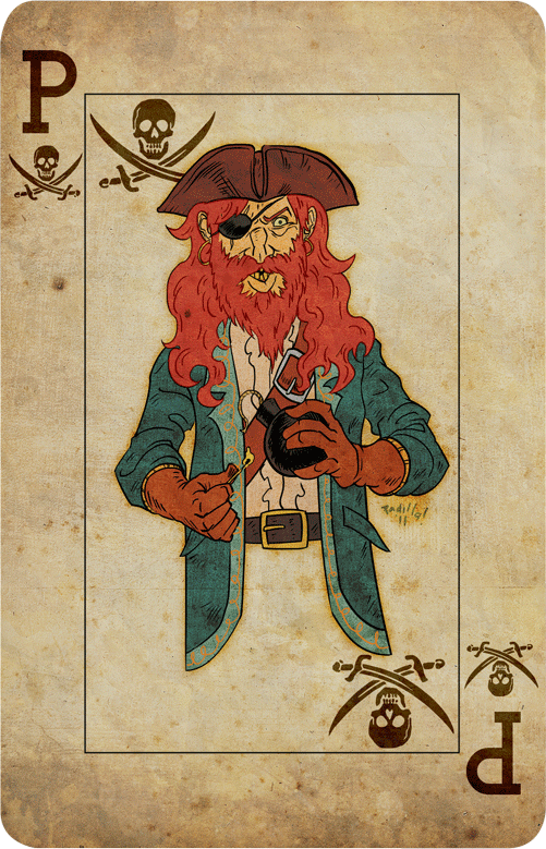 Pirate Card by Scadilla