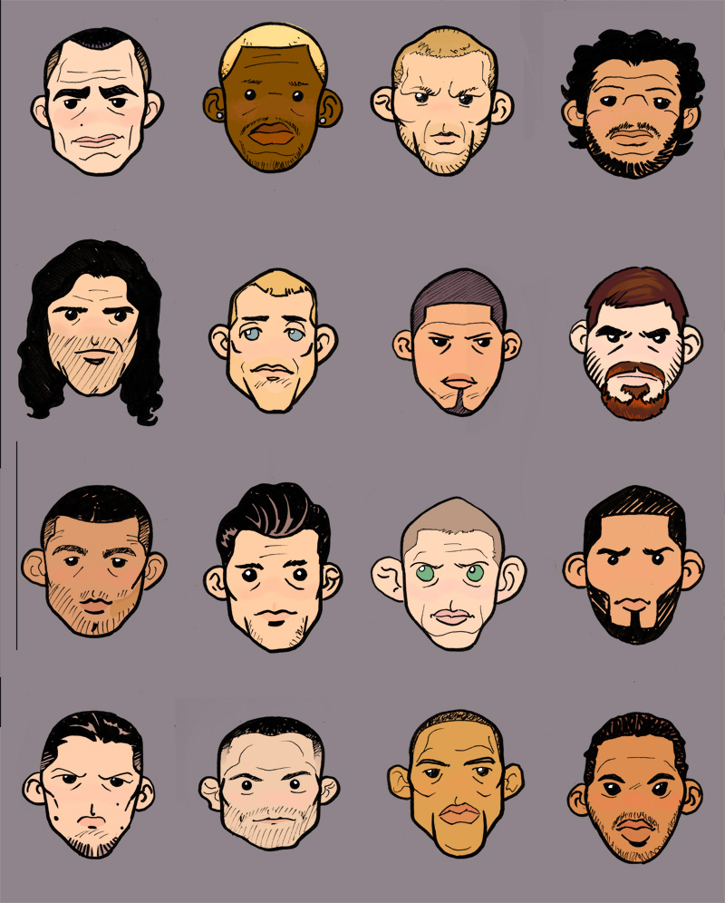 MMA lightweights by Scadilla