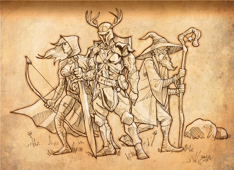 Fantasy characters by Scadilla