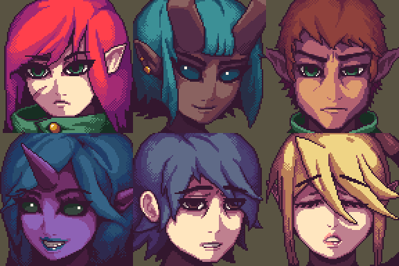 DnD Portraits by Meirnon
