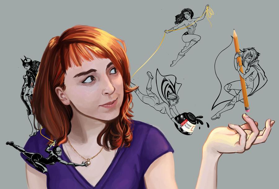 Self Portrait Assignment by BrigidAllanson