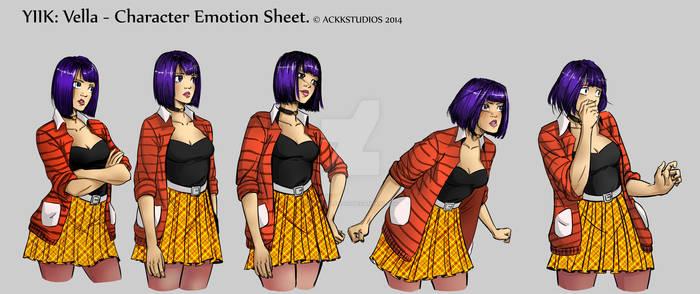 AckkStudios Y2K: Vella Character Emotion Sheet
