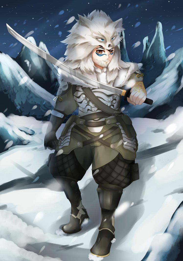 [COMMISSION] Snow Warrior by ElissaVienna