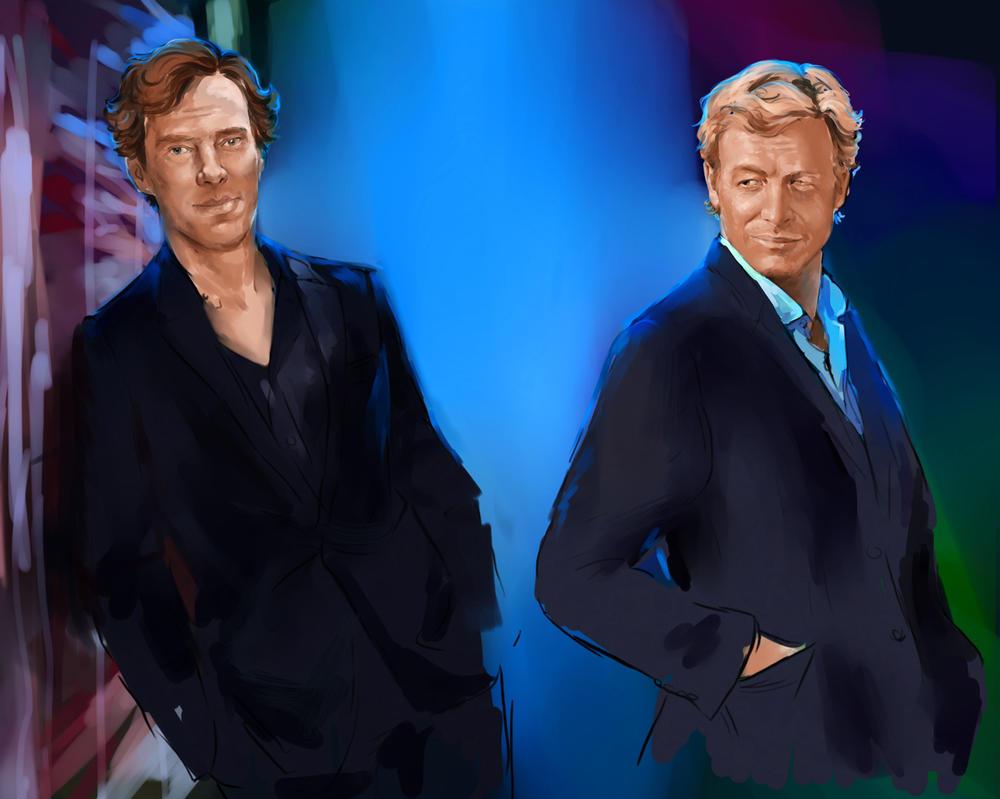 Sherlock vs  Patrick wip by ymymy