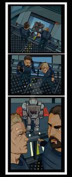 Mecha ambush- open commission colored comics