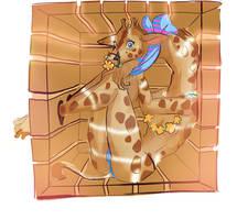 transportation of a giraffe Beastars by ymymy