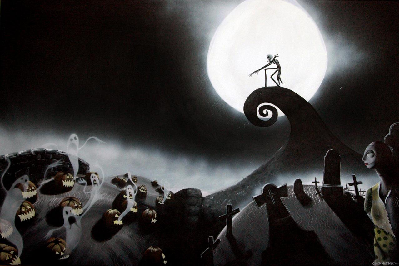 The Nightmare Before Christmas Art Hd Wallpaper