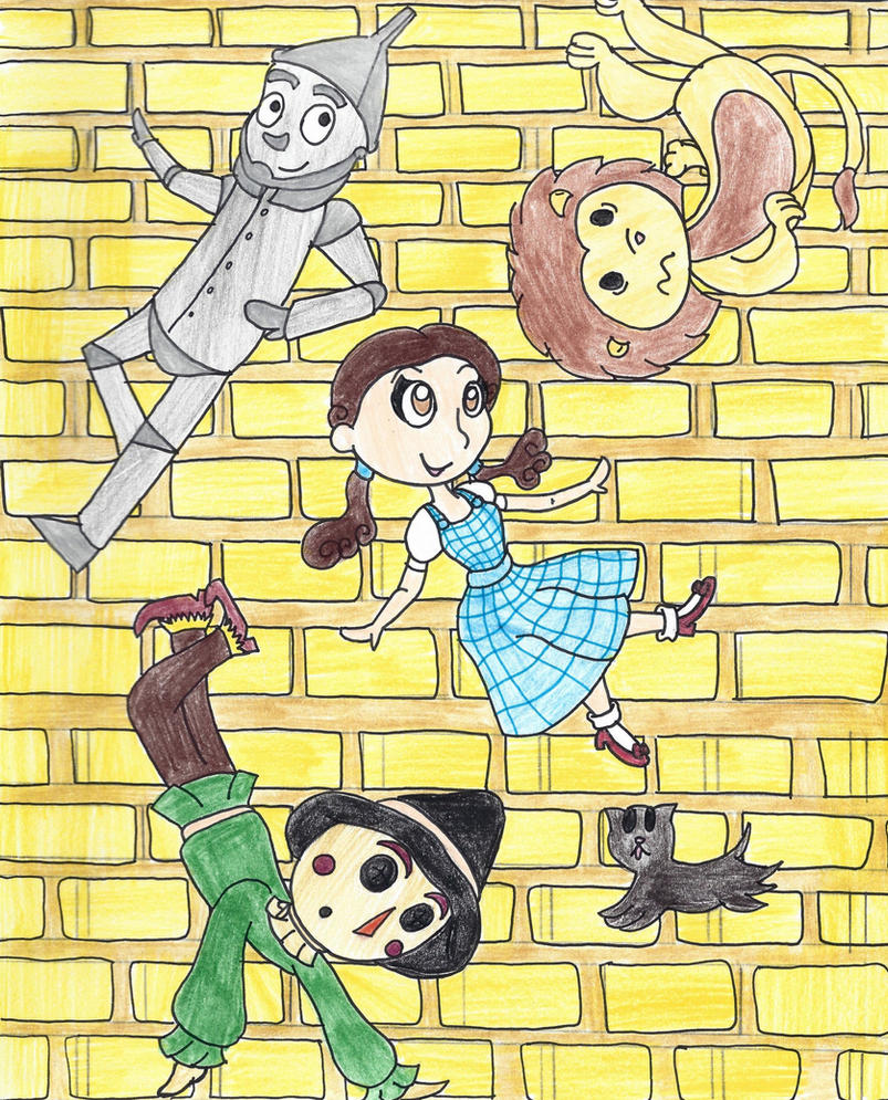follow the yellow brick road by sharkbitegal on deviantart