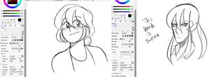 Some Neat Sai2 sketch brush settings by dv9l