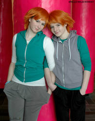 Twins and Best friends by rumRei