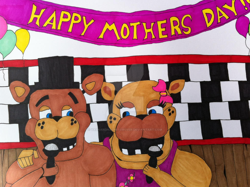 Freddy Fazbear: Mothers Day by VashandNaomiForever