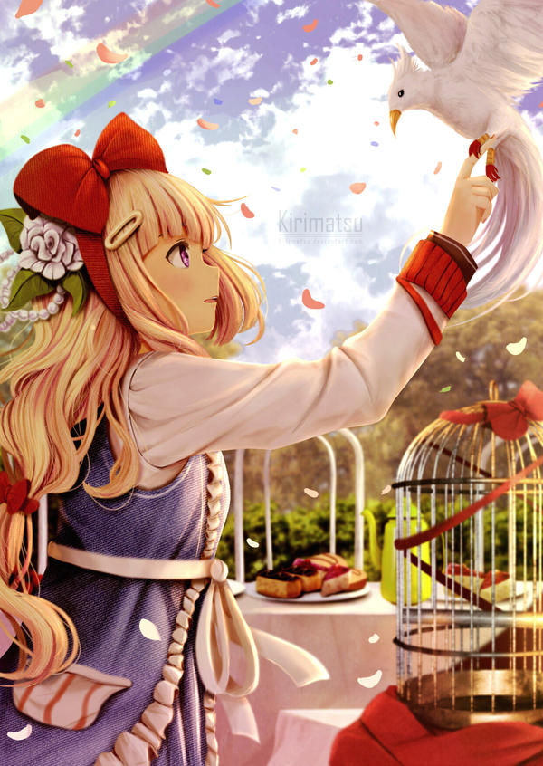 Girl And Bird by kirimatsu