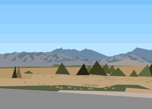 Low-Poly Desert Landscape 1