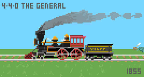 4-4-0 WA The General by Dingbat1991