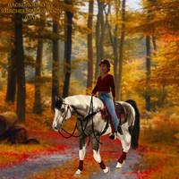 Bucky autumn walk '19 by KendraLongson