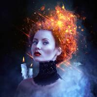 Girl In Fire by Kryseis-Art