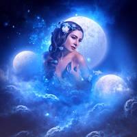 Au clair de lune by Kryseis-Art