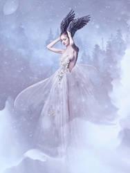 White Swan by Kryseis-Art