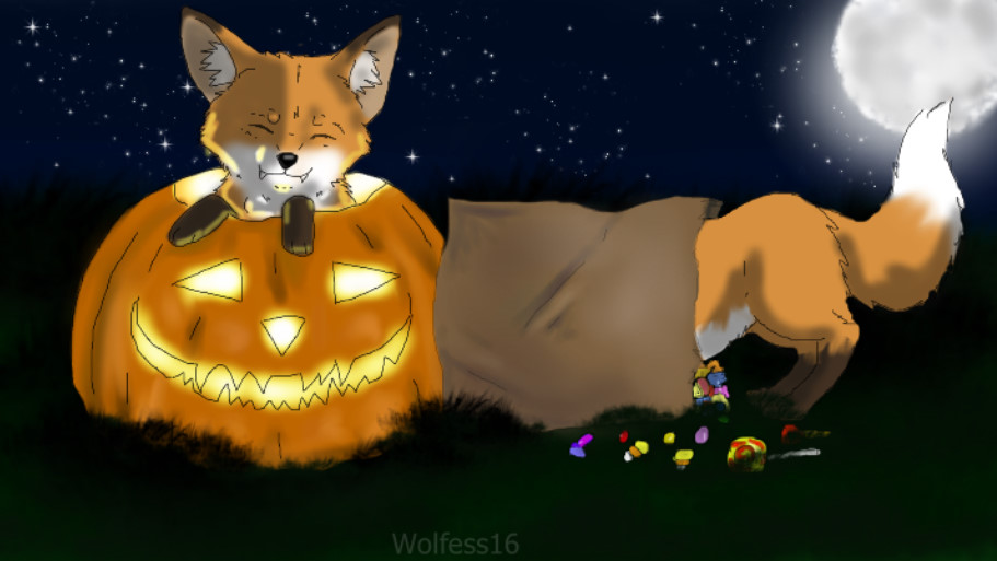 Fox Halloween - entry by Wolfess16
