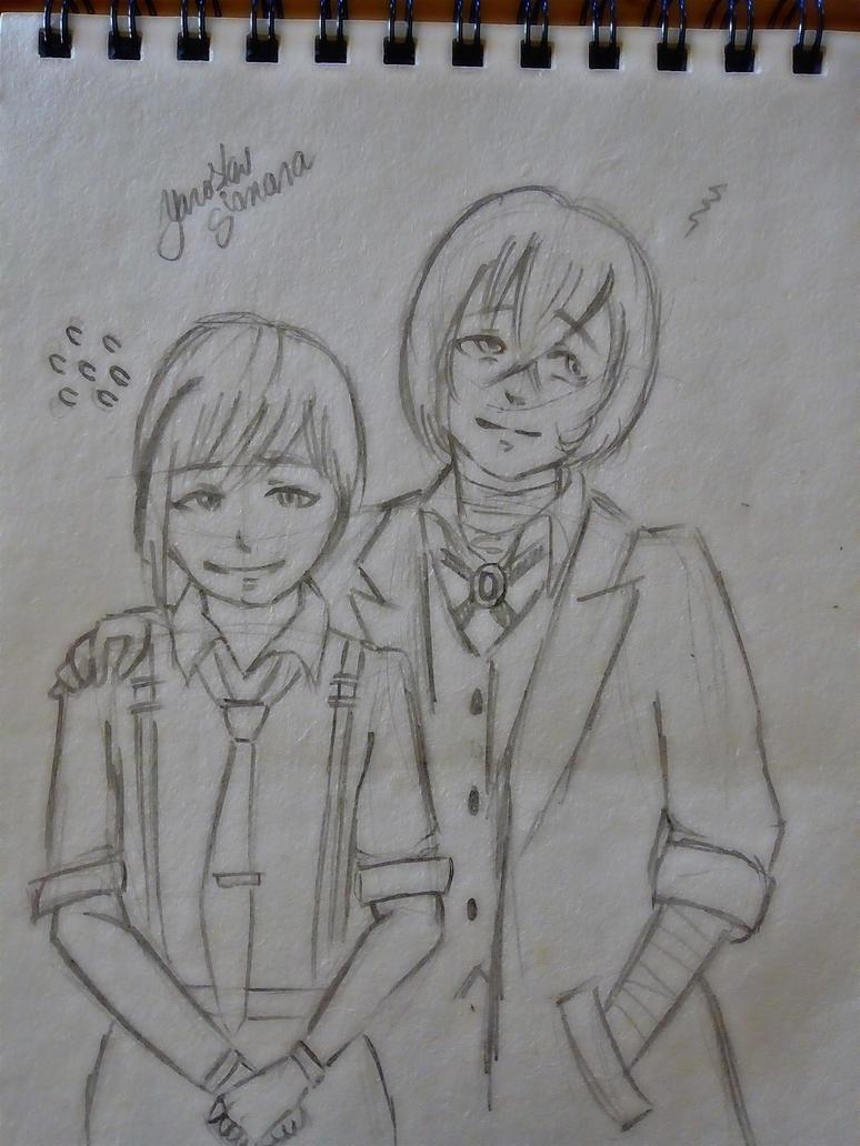 Dazai y Atsushi.  by YaroslavGianara
