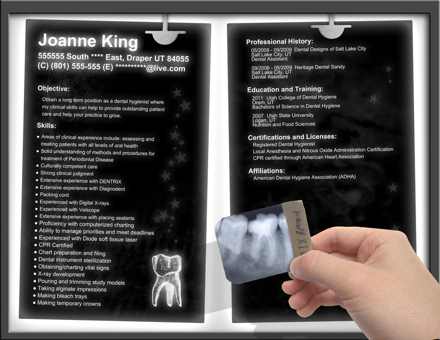 Example of Dental Hygiene Video Resume  Get more great tips and     Resume Pdf Download