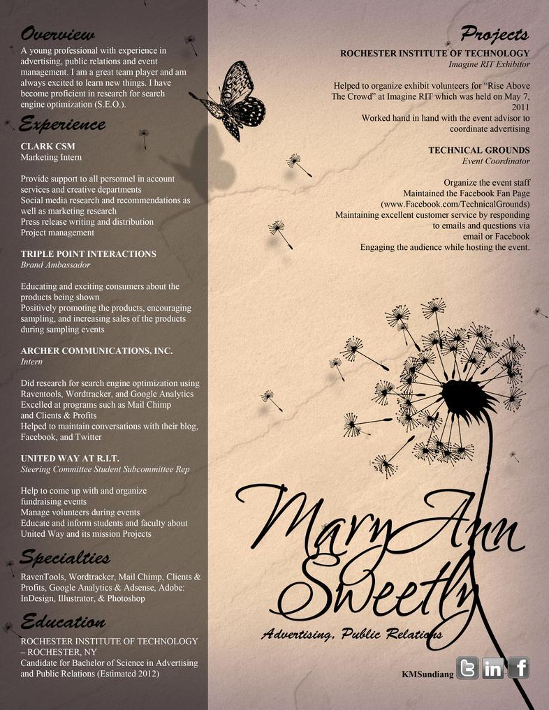 floral design resume