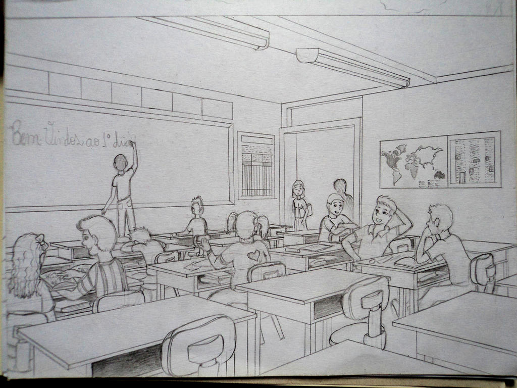 Uncategorized Drawing Of A Classroom classroom sketch by ronydraw on deviantart ronydraw