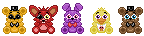 Five Nights at Freddy's Sprites by Bella-ran