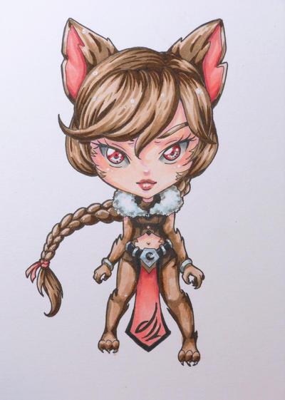 Chibi #17: Werewolf by Bella-ran