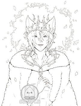 Coloring Page: King of the Wood
