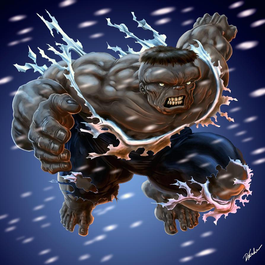 Gray Hulk by DavidWFisher