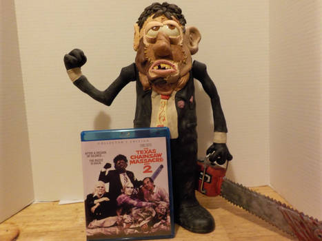 Leatherface Bubba potatohead with dvd cover