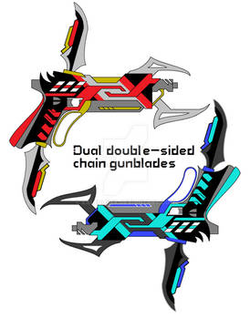 Dual double-sided chain gunblades