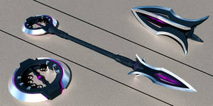 Sci-fi Retractable Flail Weapon
