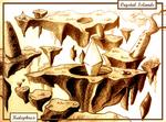 Floating Crystal Islands (Pen Drawing)