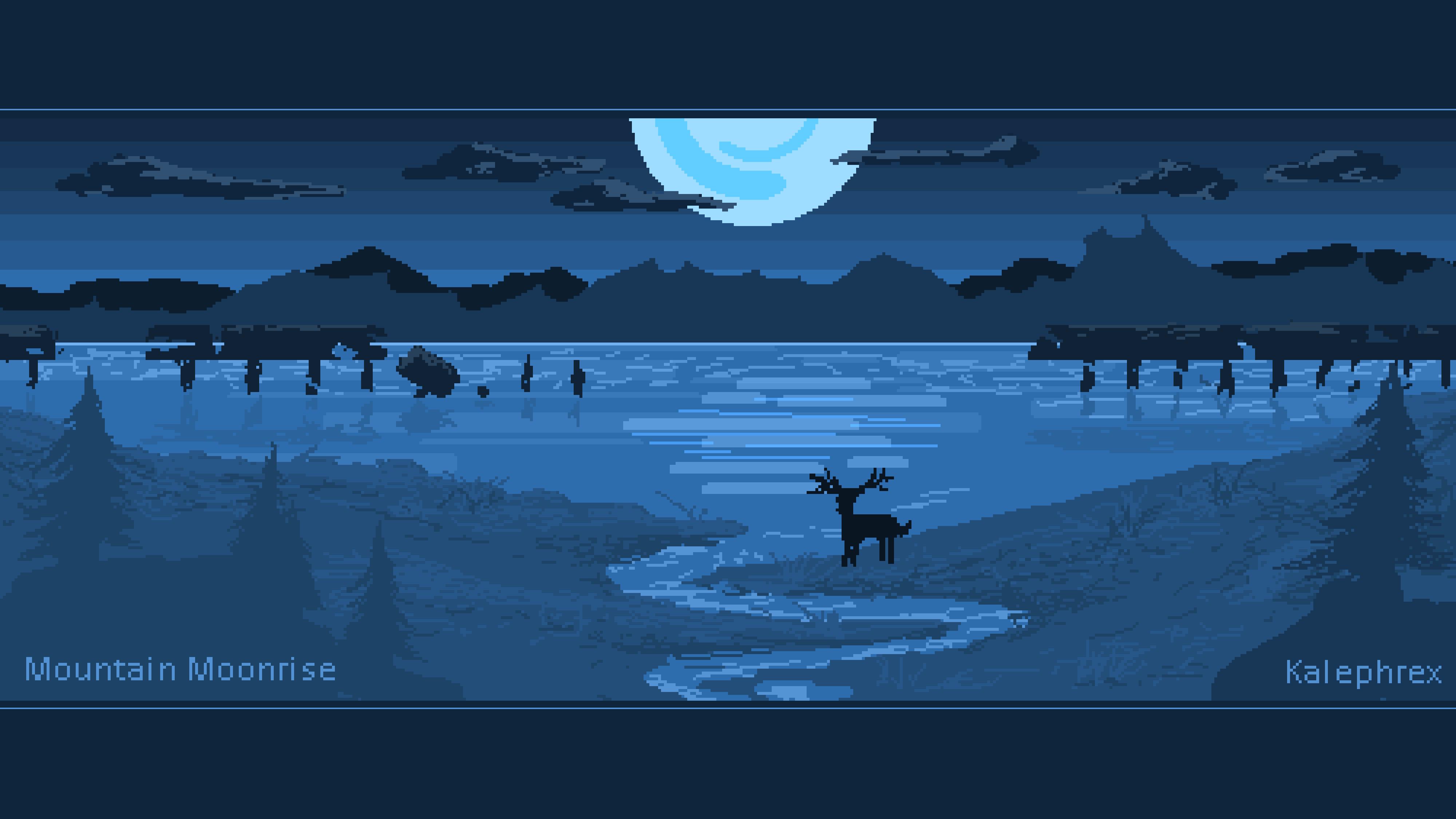 Mountain Moonrise [Pixel Art]