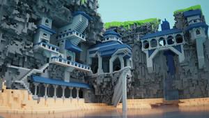 Cliffside Monastery (Alternate View)
