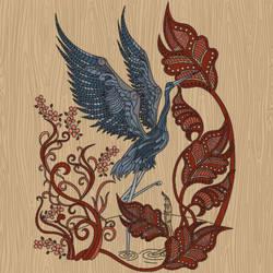 Bird and Flower Mosaic