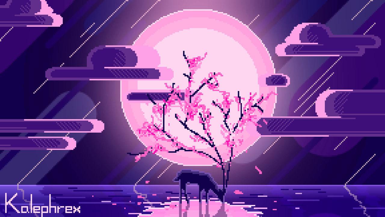 Sakura Deer - Pixel Art