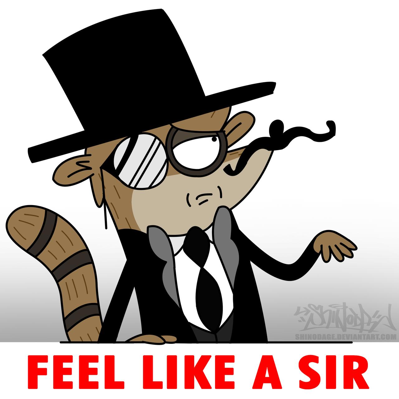 Feel Like A Sir Rigby Meme by ShinodaGE